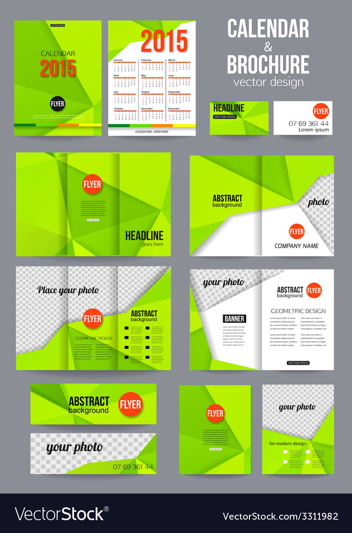 Set of corporate business stationery templates vector image cheaphphosting Gallery