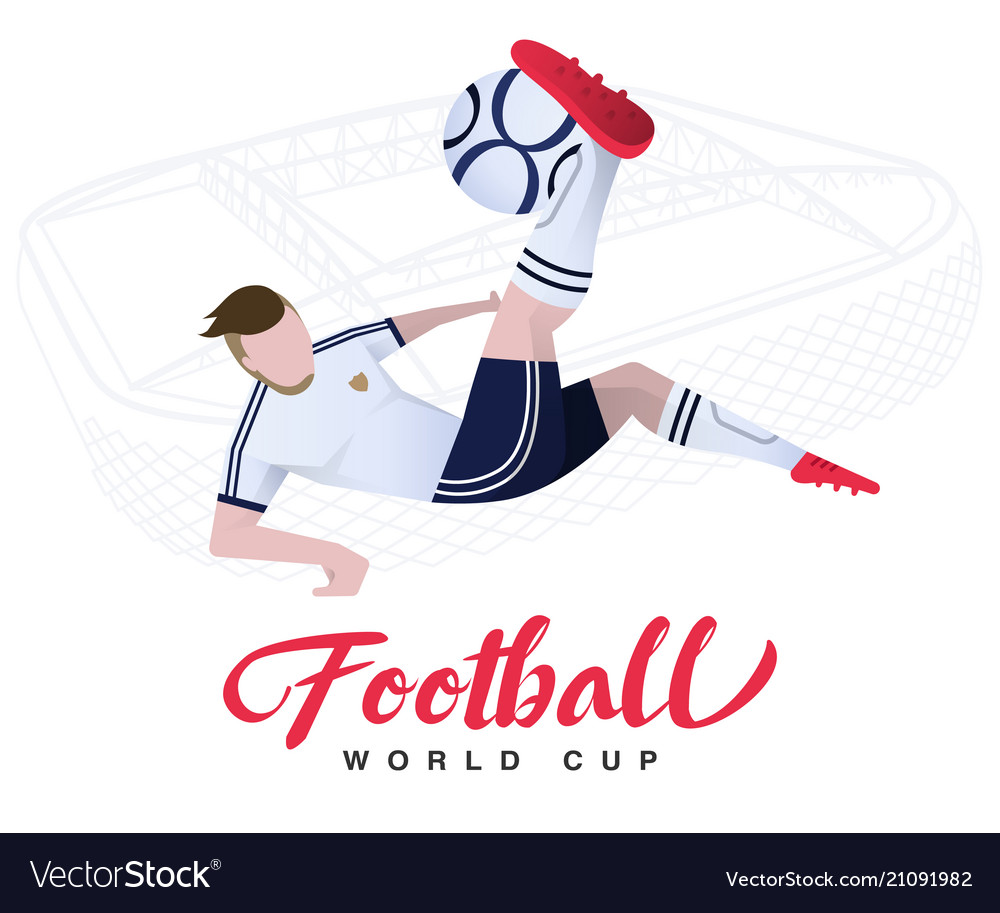 Soccer player on the stadium background