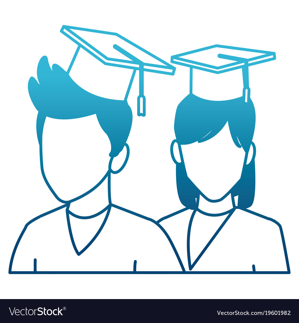Students in graduation avatar