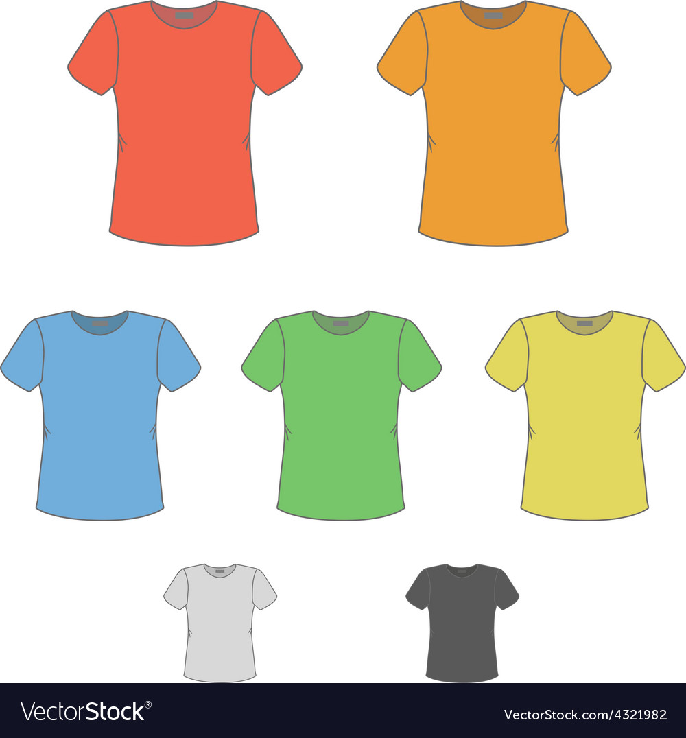 T-shirt design templates in various colors Vector Image