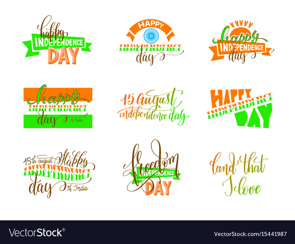 15th of august india independence day logo design