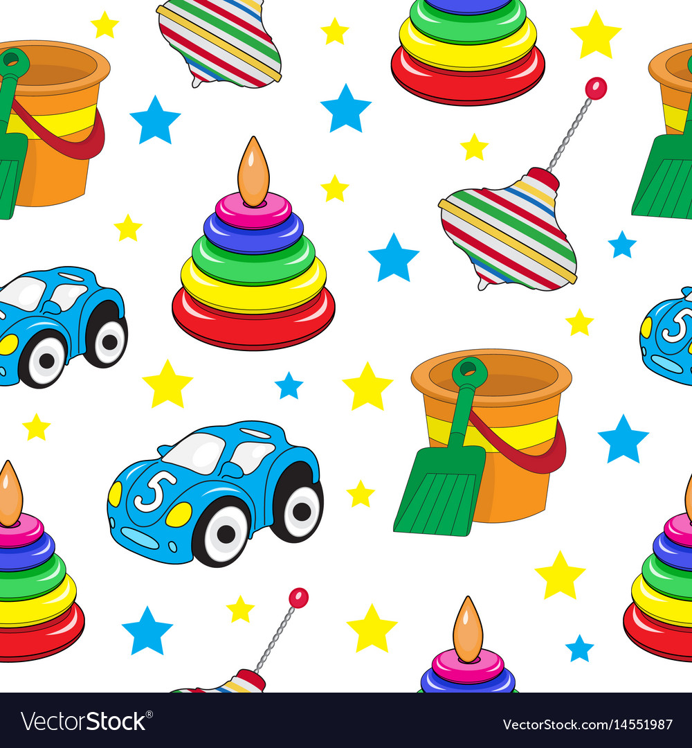 Baby toys seamless texture children s wallpaper