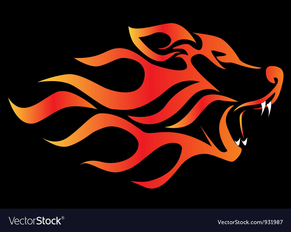 Flame Wolf vector image