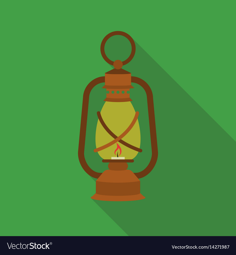 Lantern icon in flat style isolated on white vector image