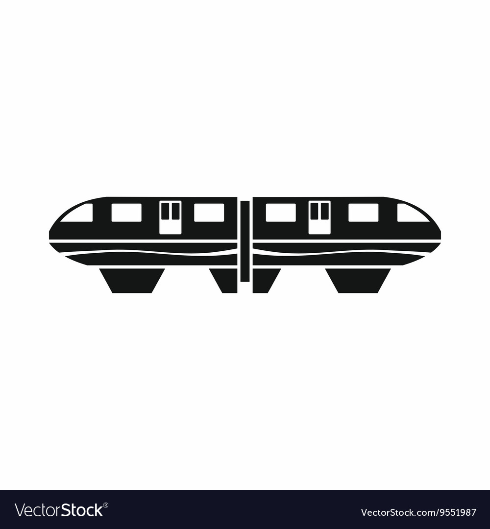 Monorail train icon simple style