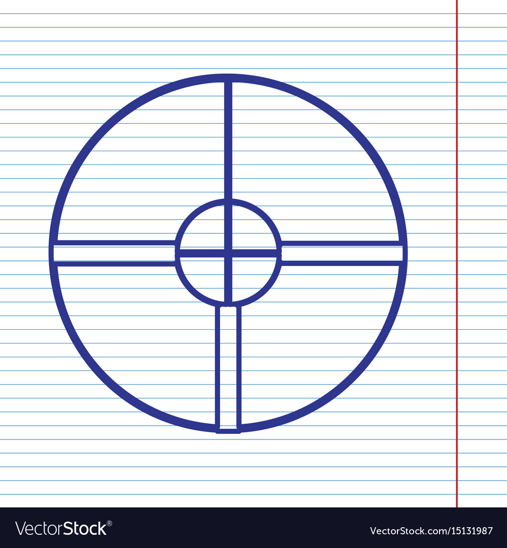 Sight sign navy line icon on