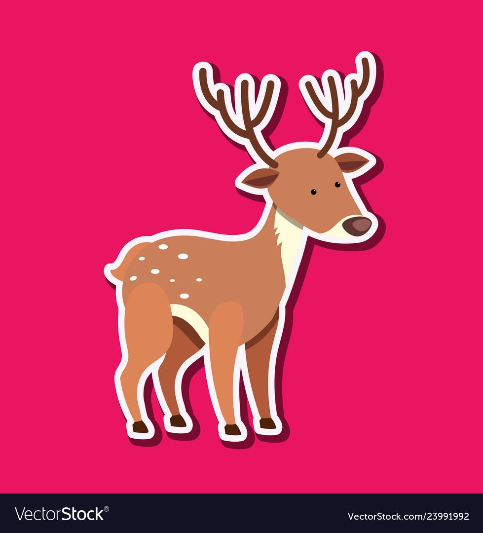 A deer sticker character