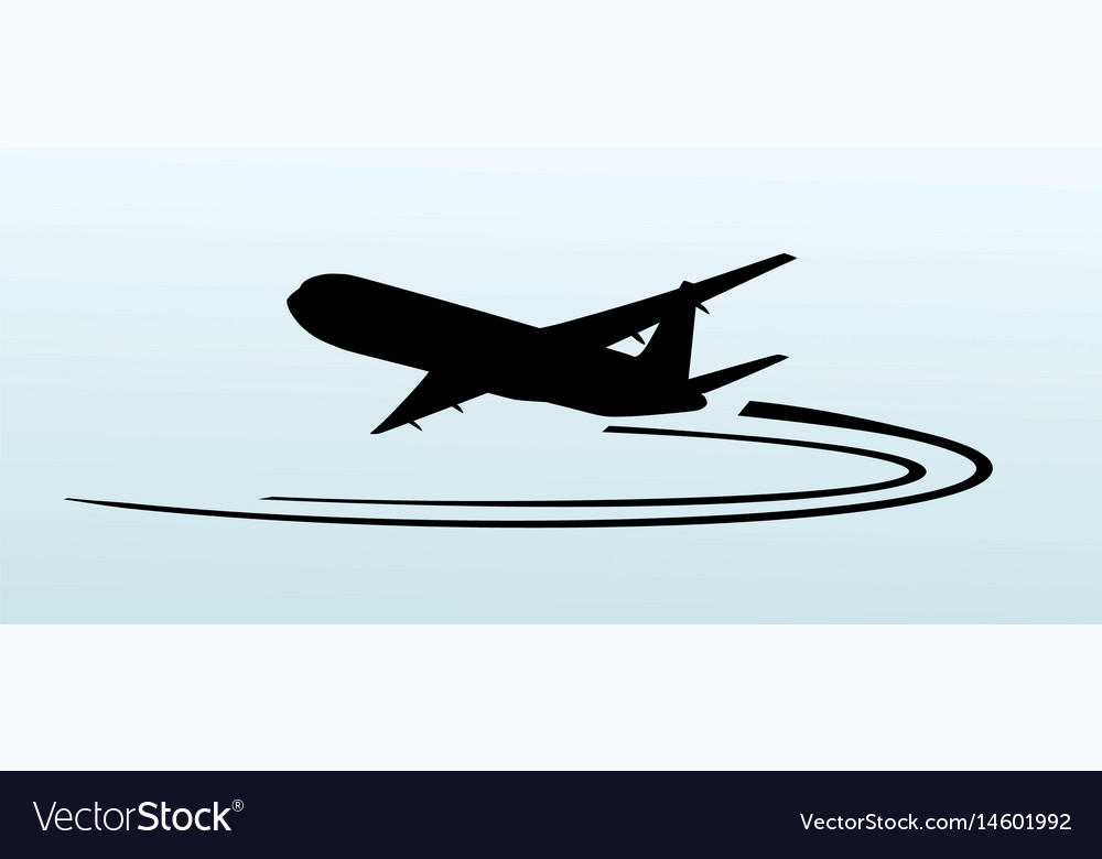 Airplane silhouette icon vector image