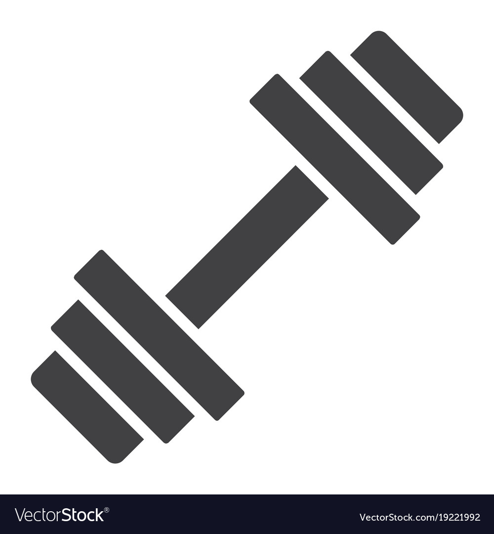Barbell glyph icon fitness and...