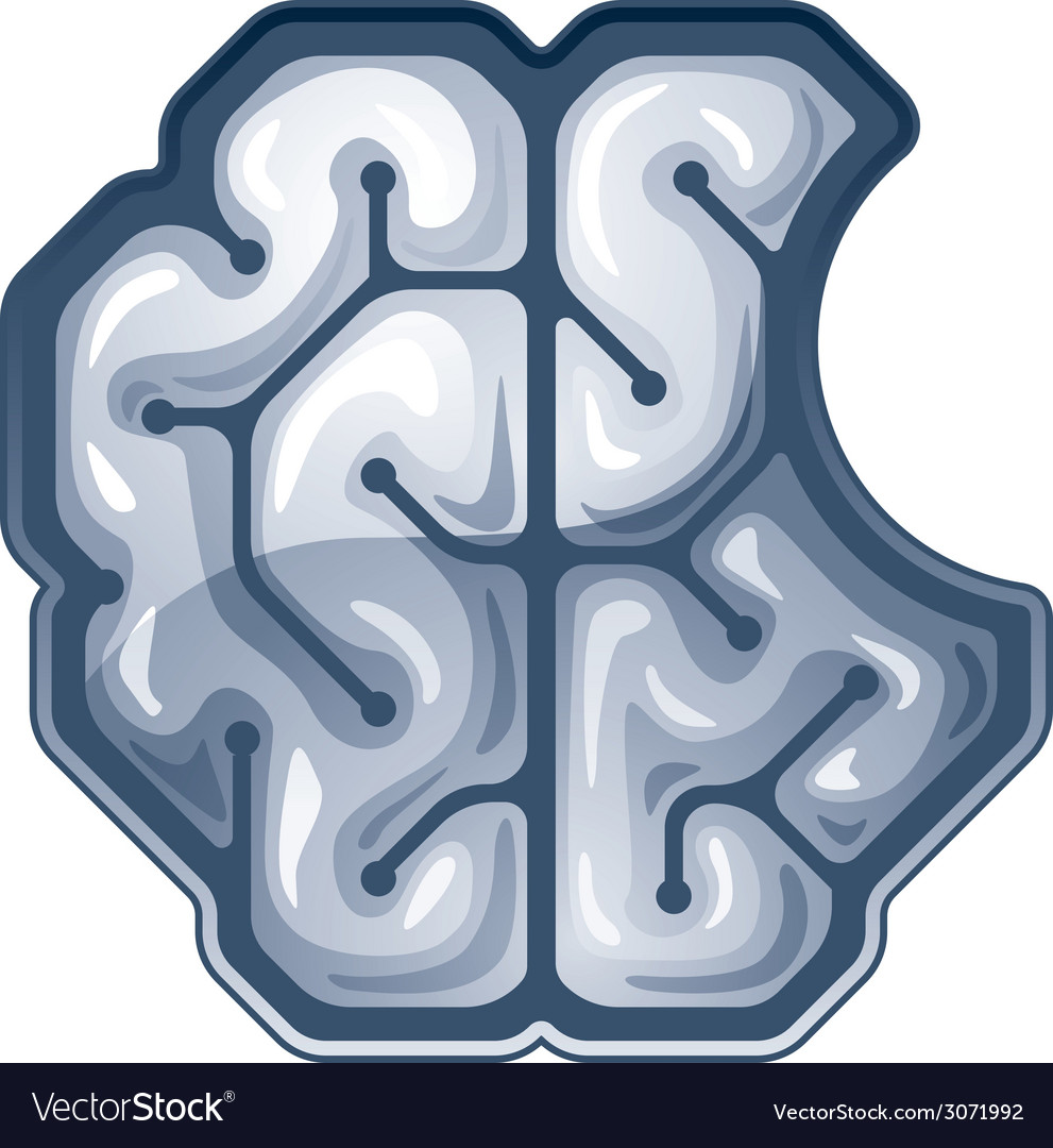 Bitten brain Top view