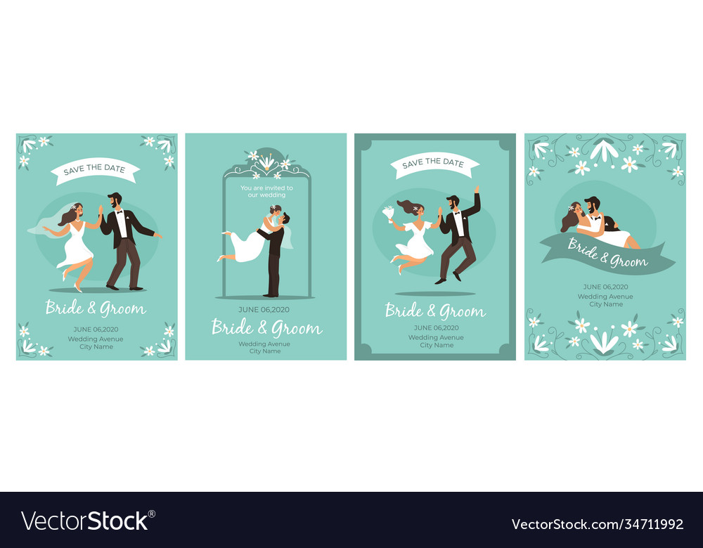 Bride and groom cards happy loving couple