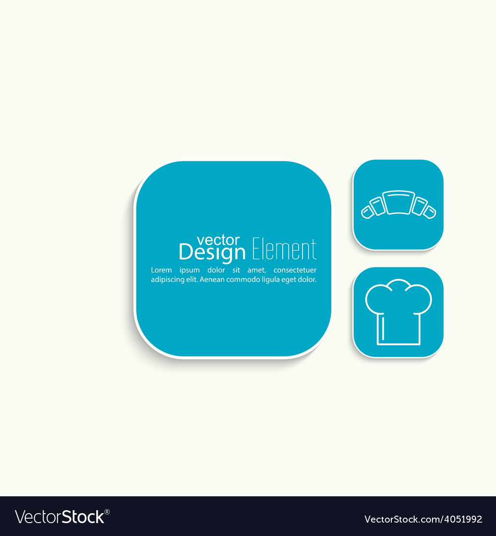 Chef hat and rolling pin for test Royalty Free Vector Image