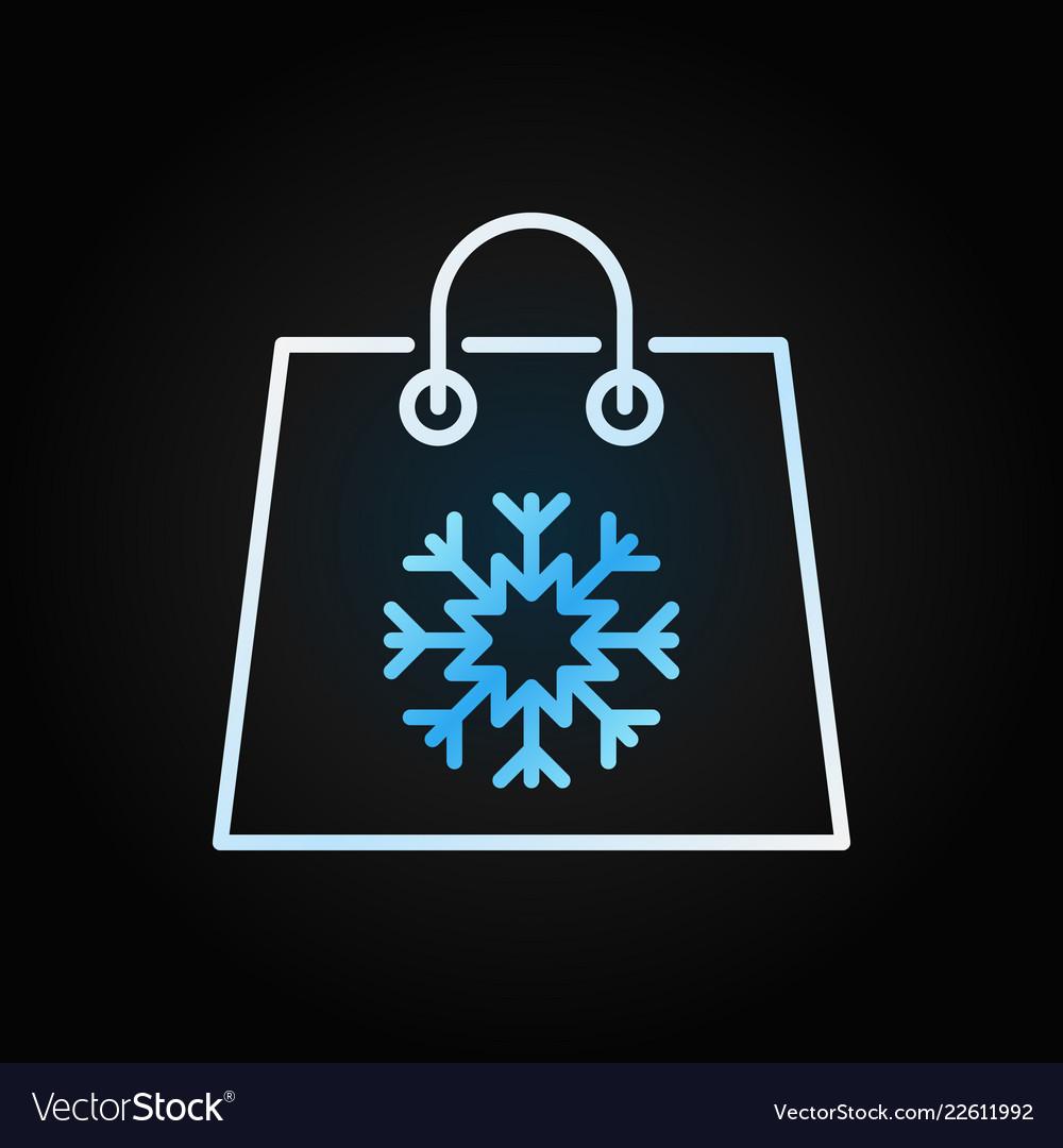Christmas shopping paper bag colorful line