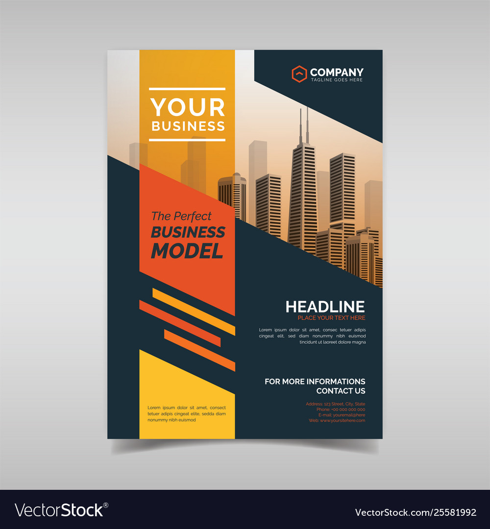 Creative Modern Corporate Flyer Template Vector Image