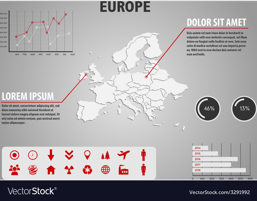 Map europe - infographic