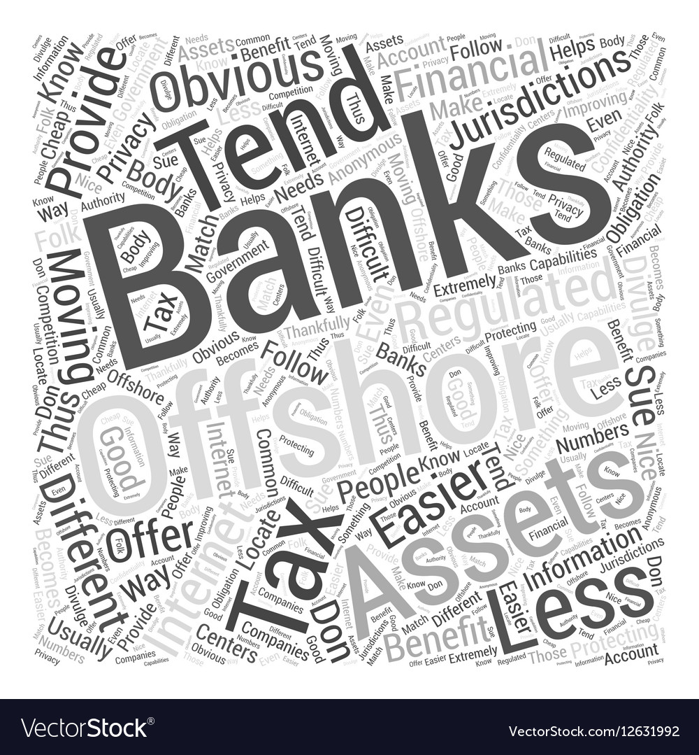 Offshore Banking On The Internet Word Cloud