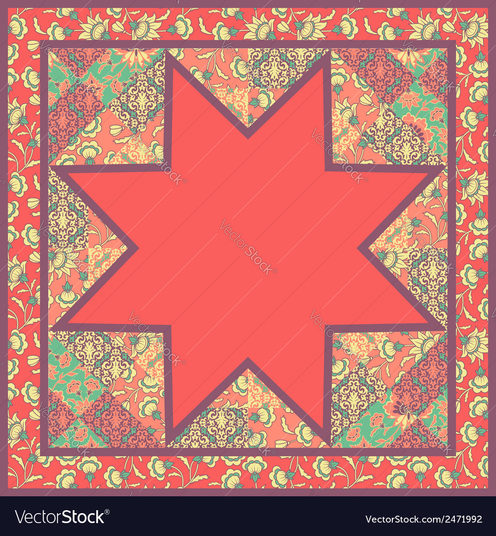 Quilt Abstract Seamless Pattern vector image