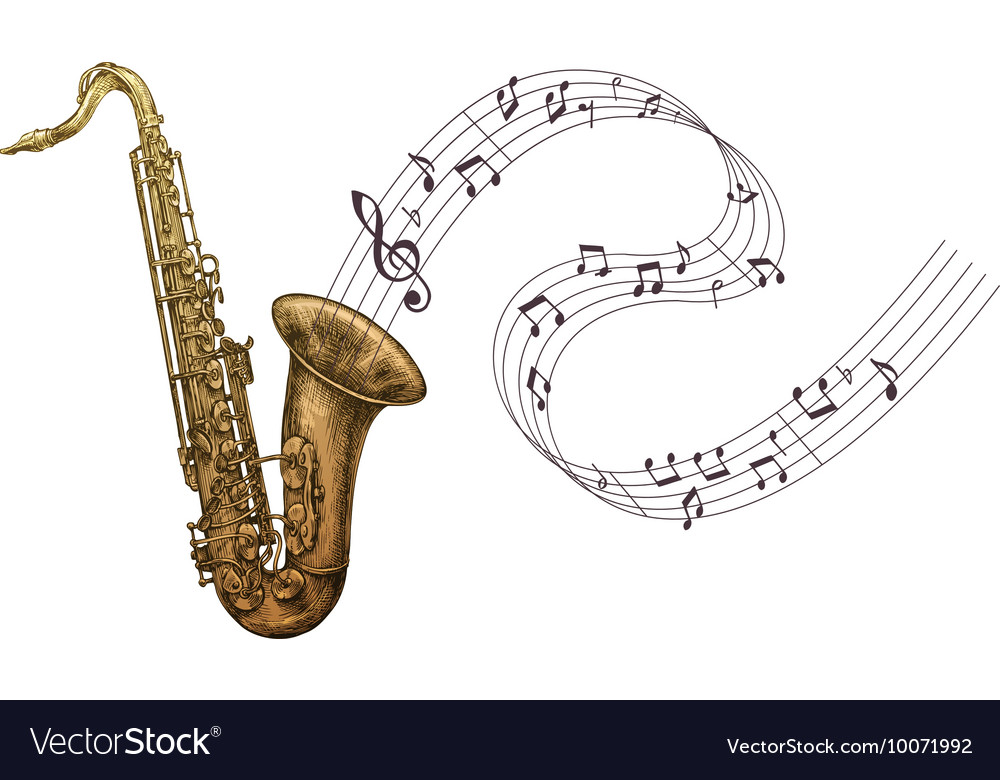 Saxophone music jazz