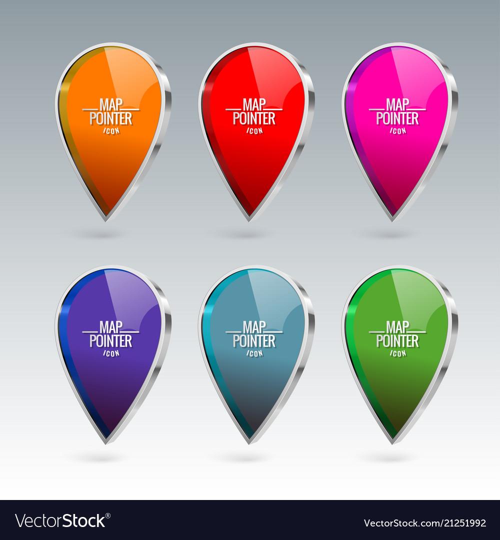 Shiny gloss map pointer icon