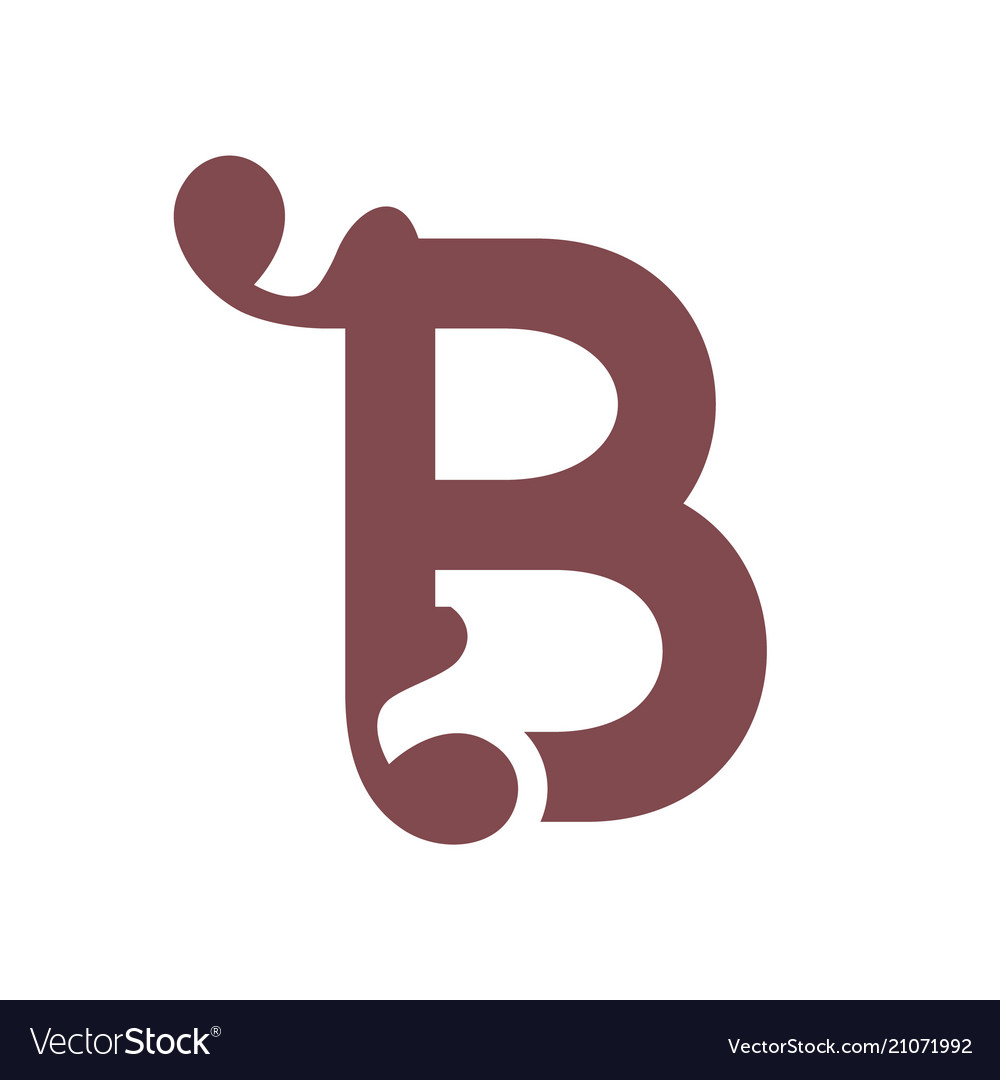 Sign of the letter b