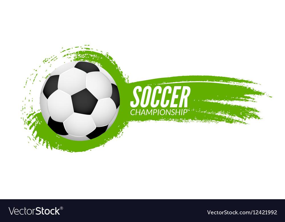 Soccer football poster design template Soccer