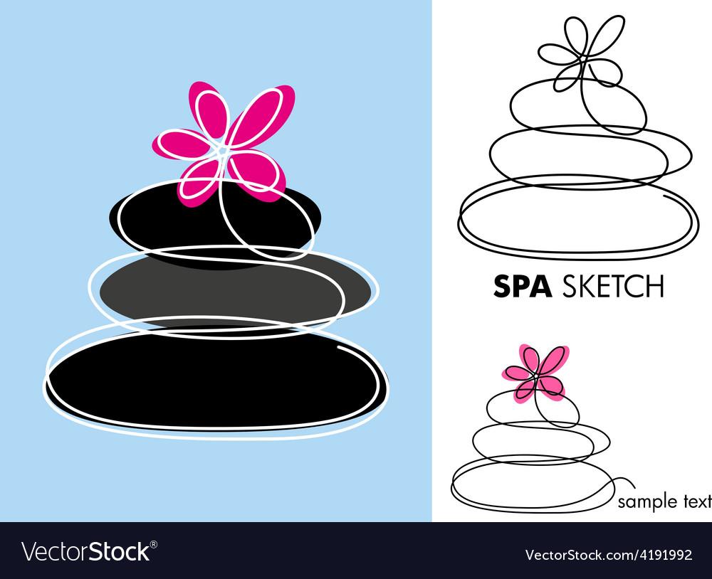 SPA sketch vector image