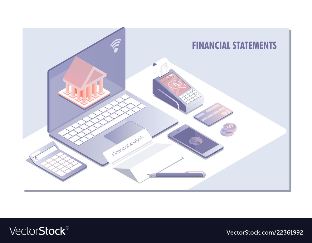 Web page design templates for financial statement