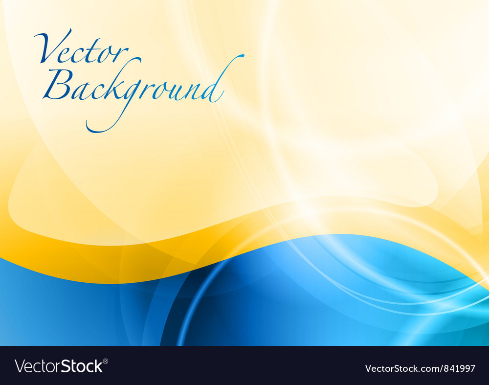 Background abstract blue and orange wave text vector image
