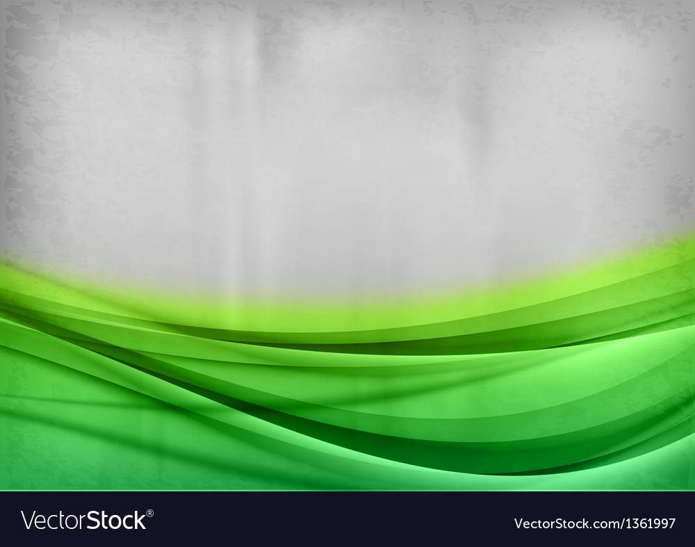 Background green two color vector image