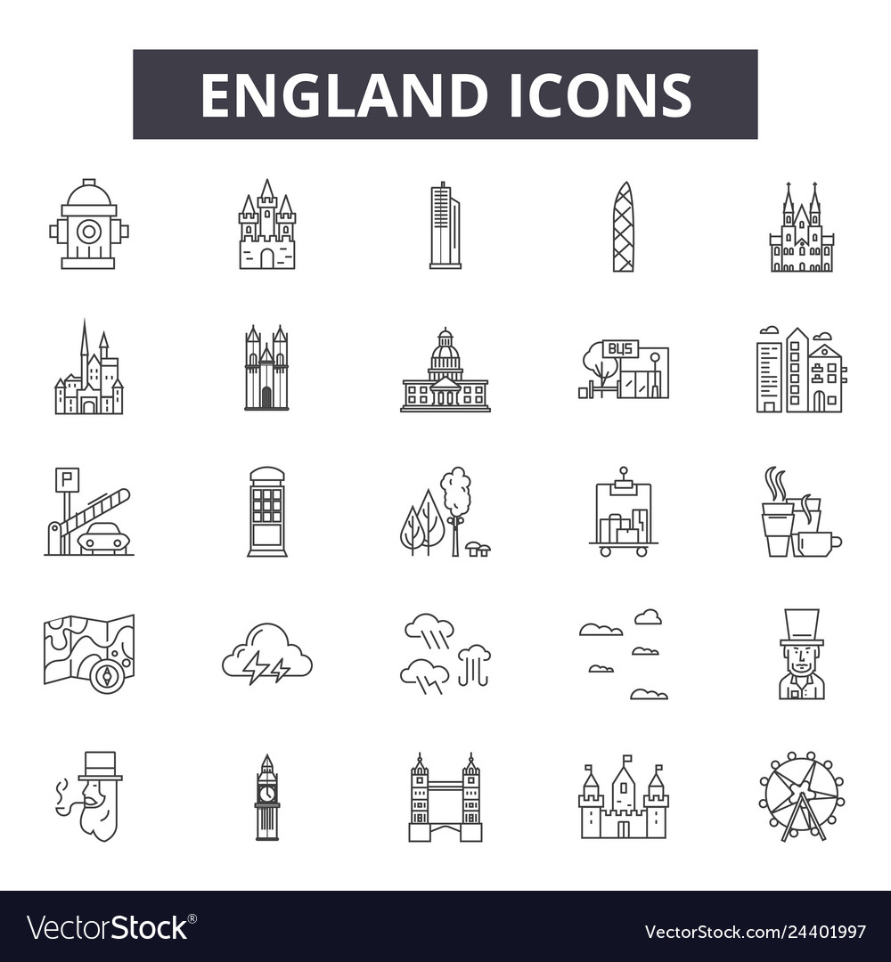 England line icons for web and mobile design