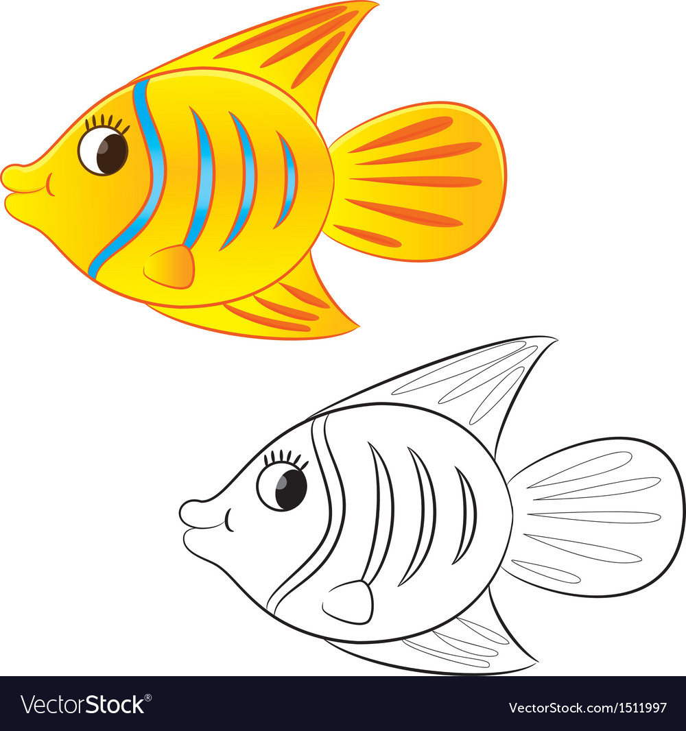 - Fish Coloring Book Royalty Free Vector Image - VectorStock