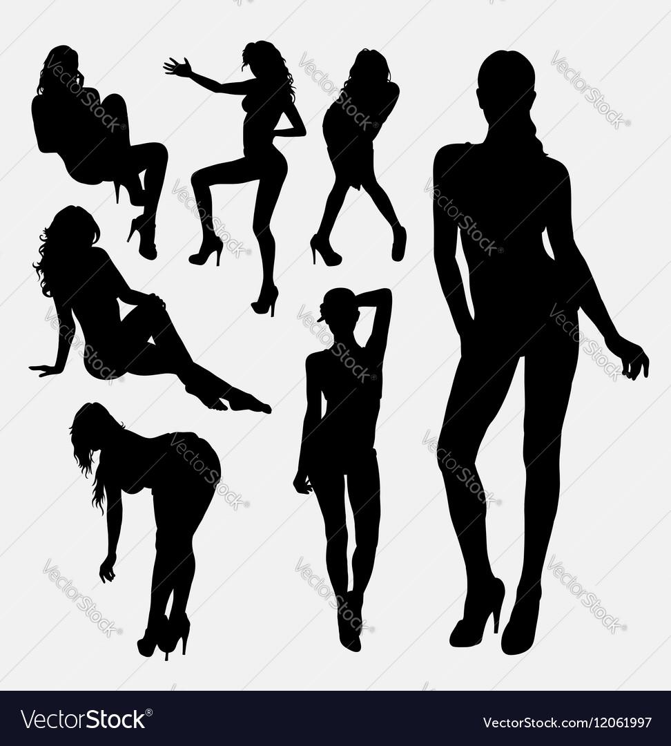Girl sexy female silhouette