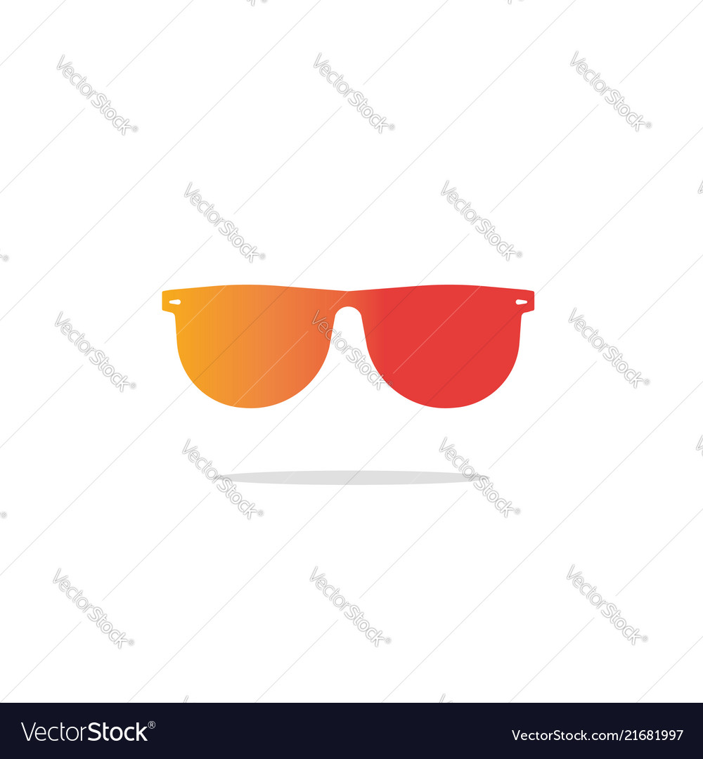 Glasses icon flat gradient sunglasses