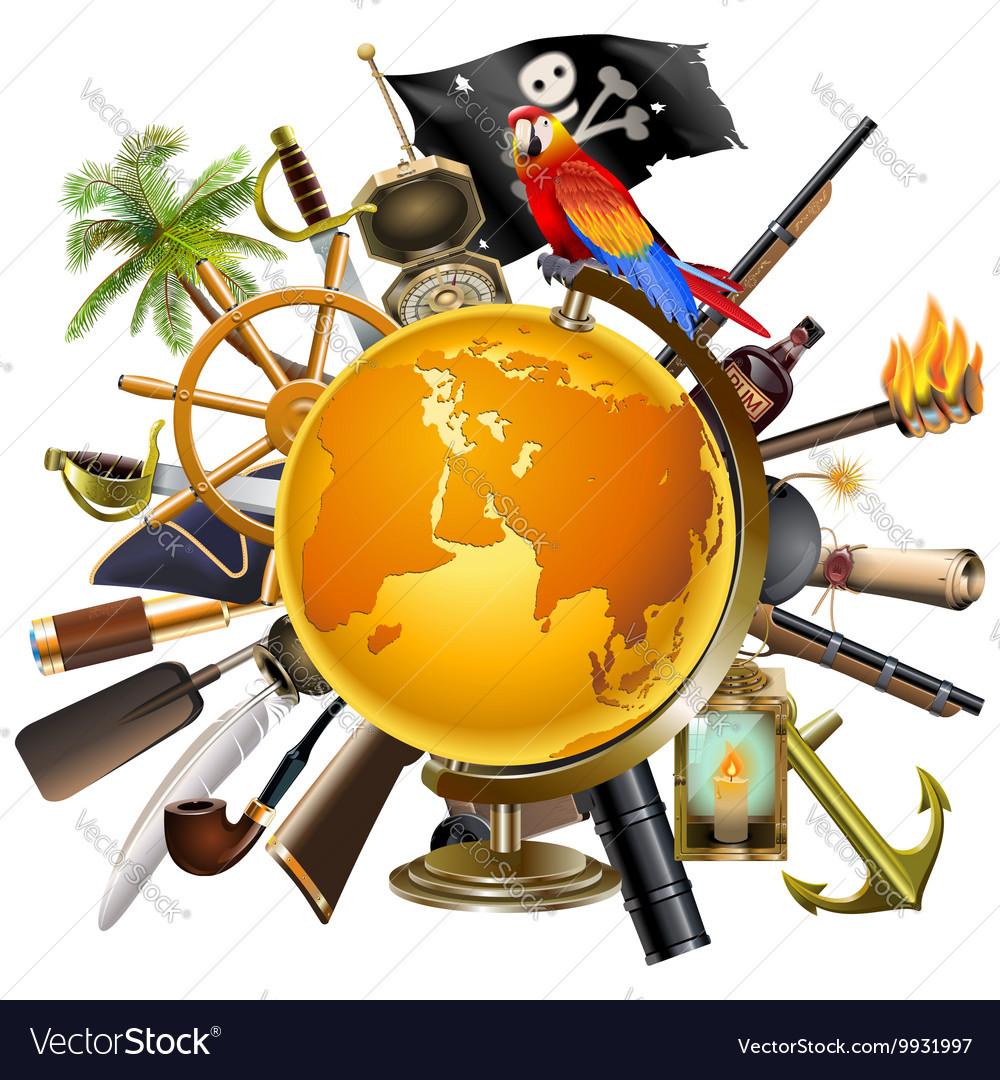 Pirate Globe Concept