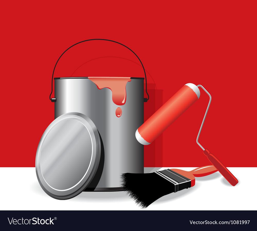 Red paint pot banner