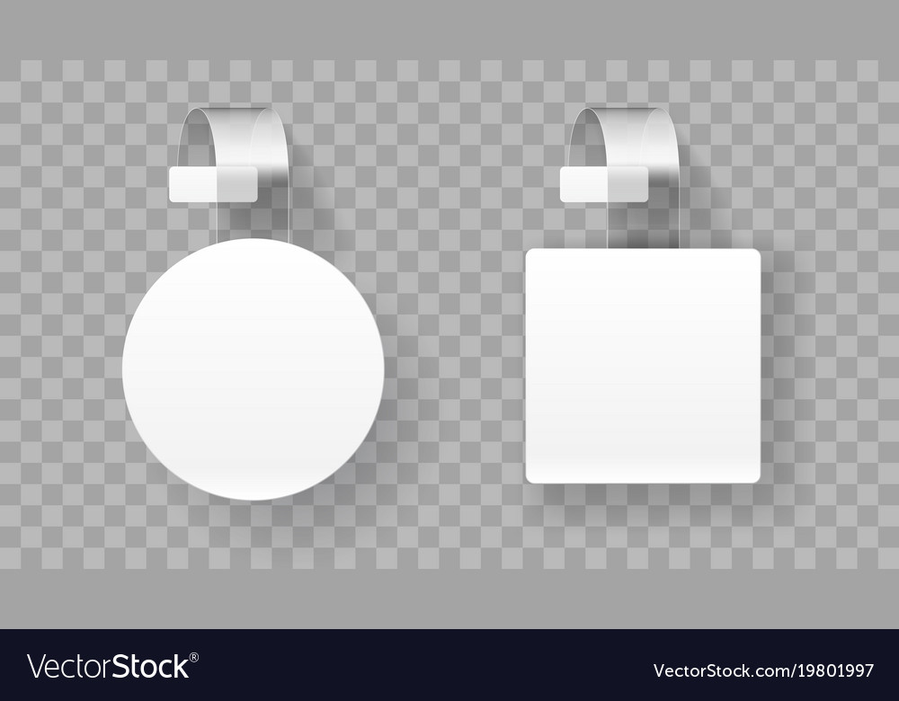 Sale point tag white clear round supermarket vector image