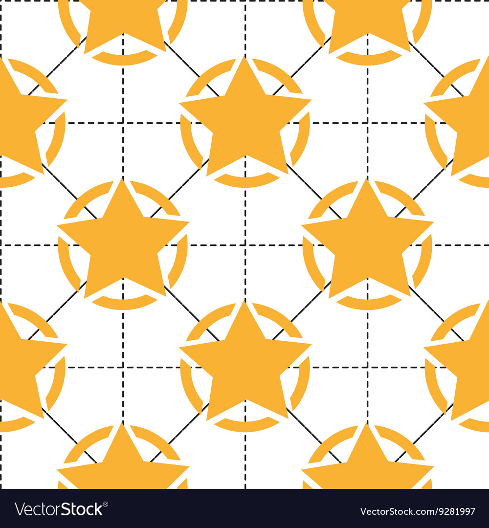 Seamless pattern with yellow stars and dotted