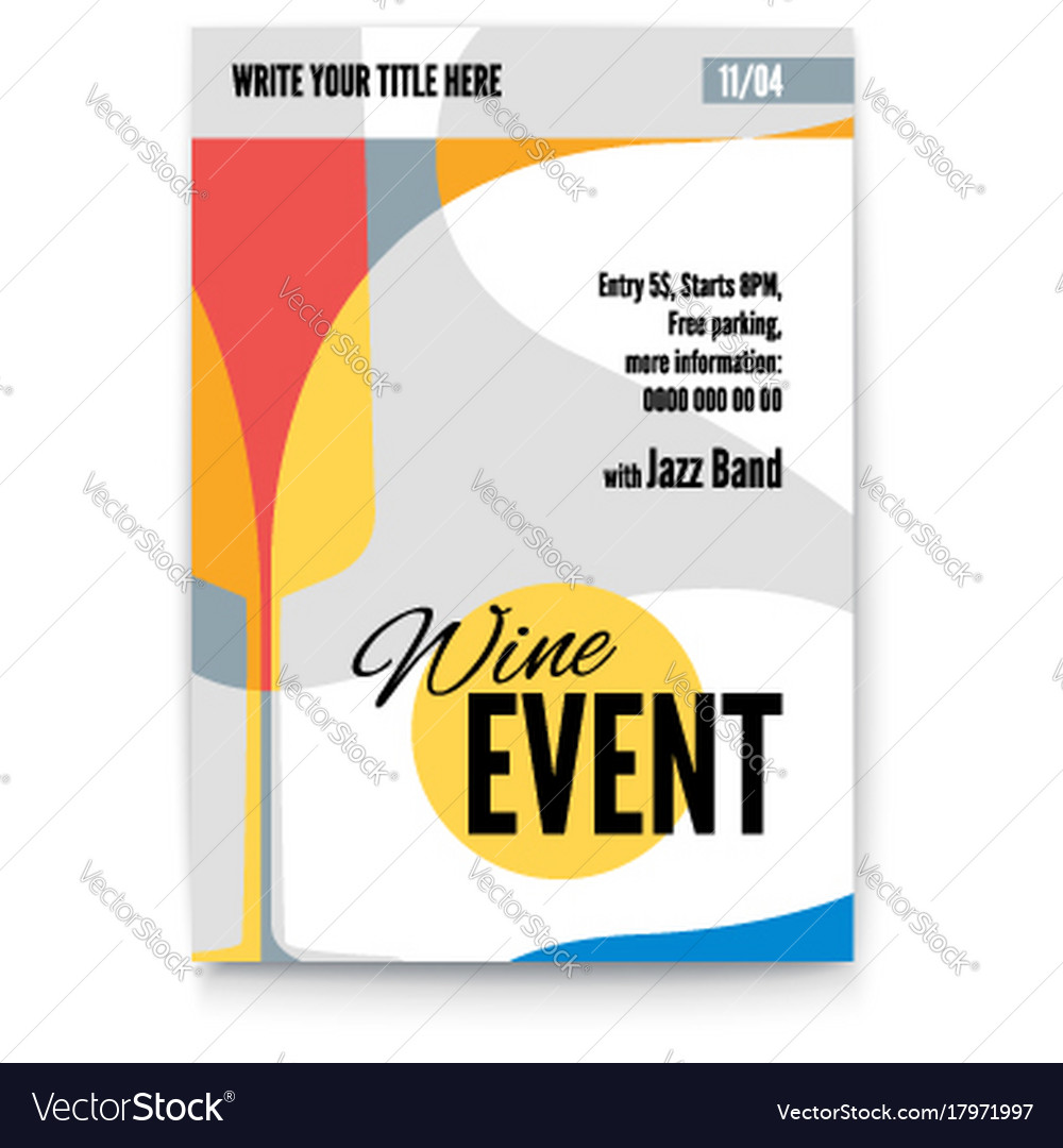 Template poster design layout
