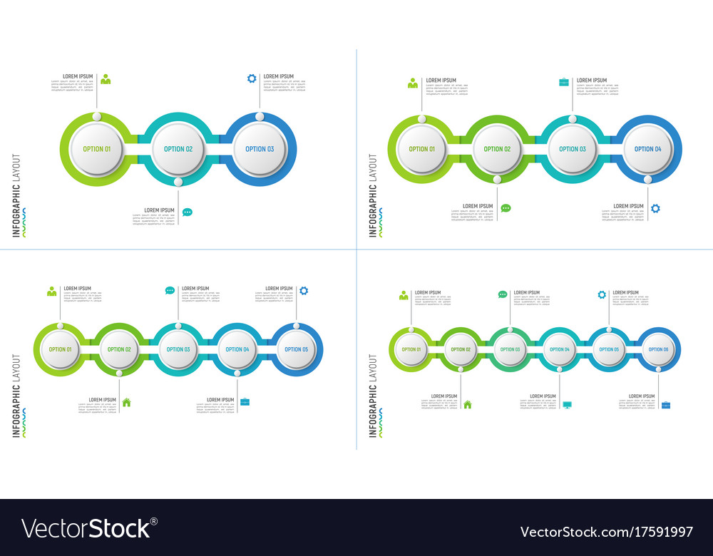Timeline chart infographic designs for data