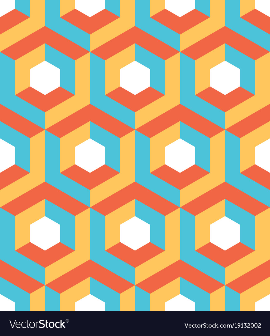Abstract 3d background of isometric hexagonal