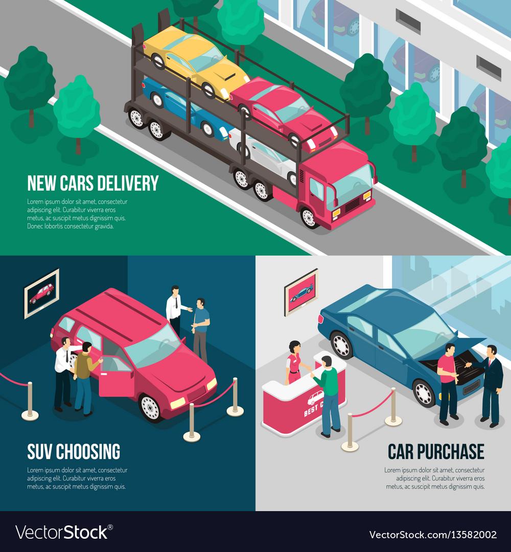 Car dealership leasing design concept set