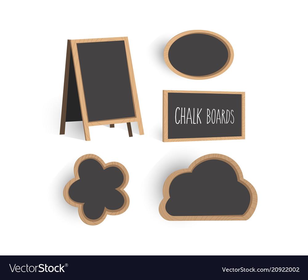 Chalkboard set templates