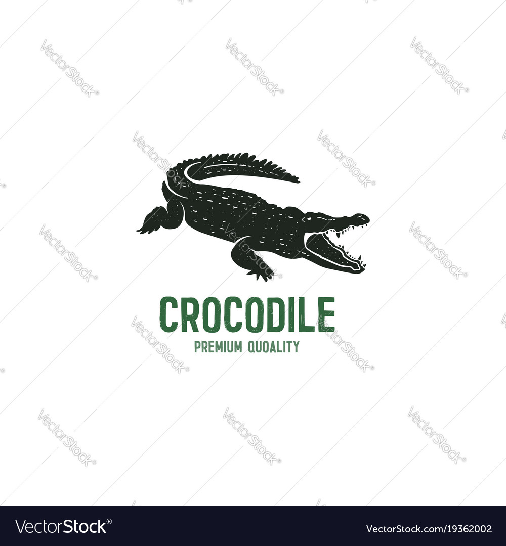 Crocodile logo template symbol alligator