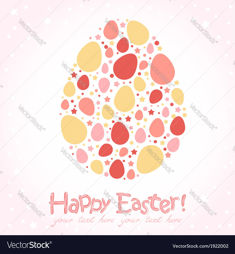 Easter egg stylized cute greeting card