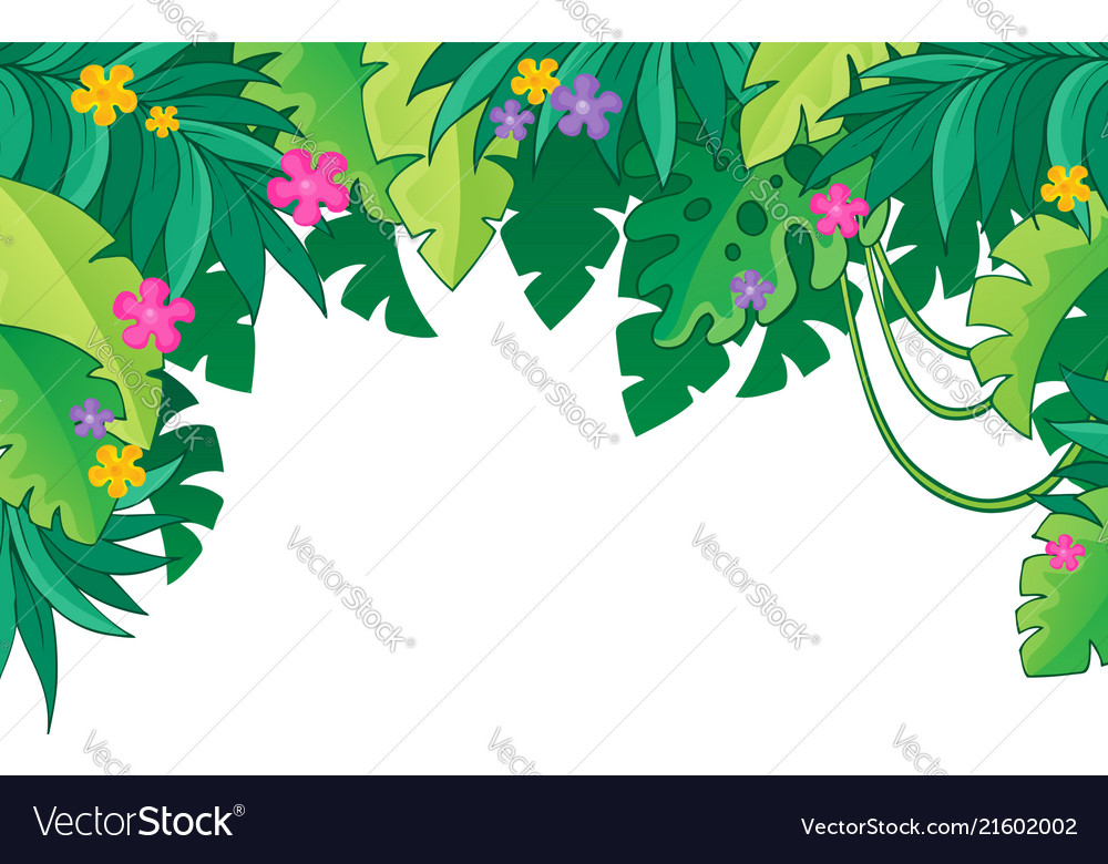 Theme Jungle image with jungle theme 3 royalty free vector image