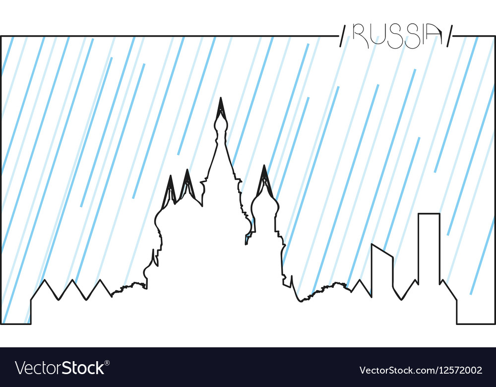 Isolated skyline of Moscow vector image