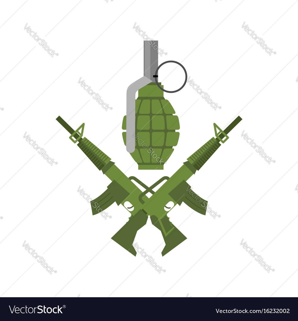 military emblem army logo crossed rifles and vector image rh vectorstock com salvation army logo pictures salvation army logo pictures