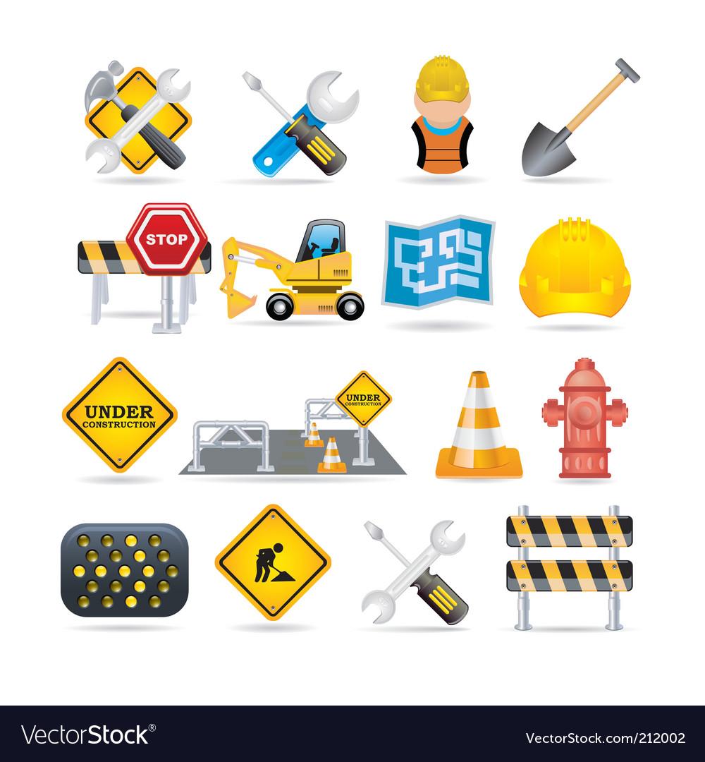 Road icon set vector image