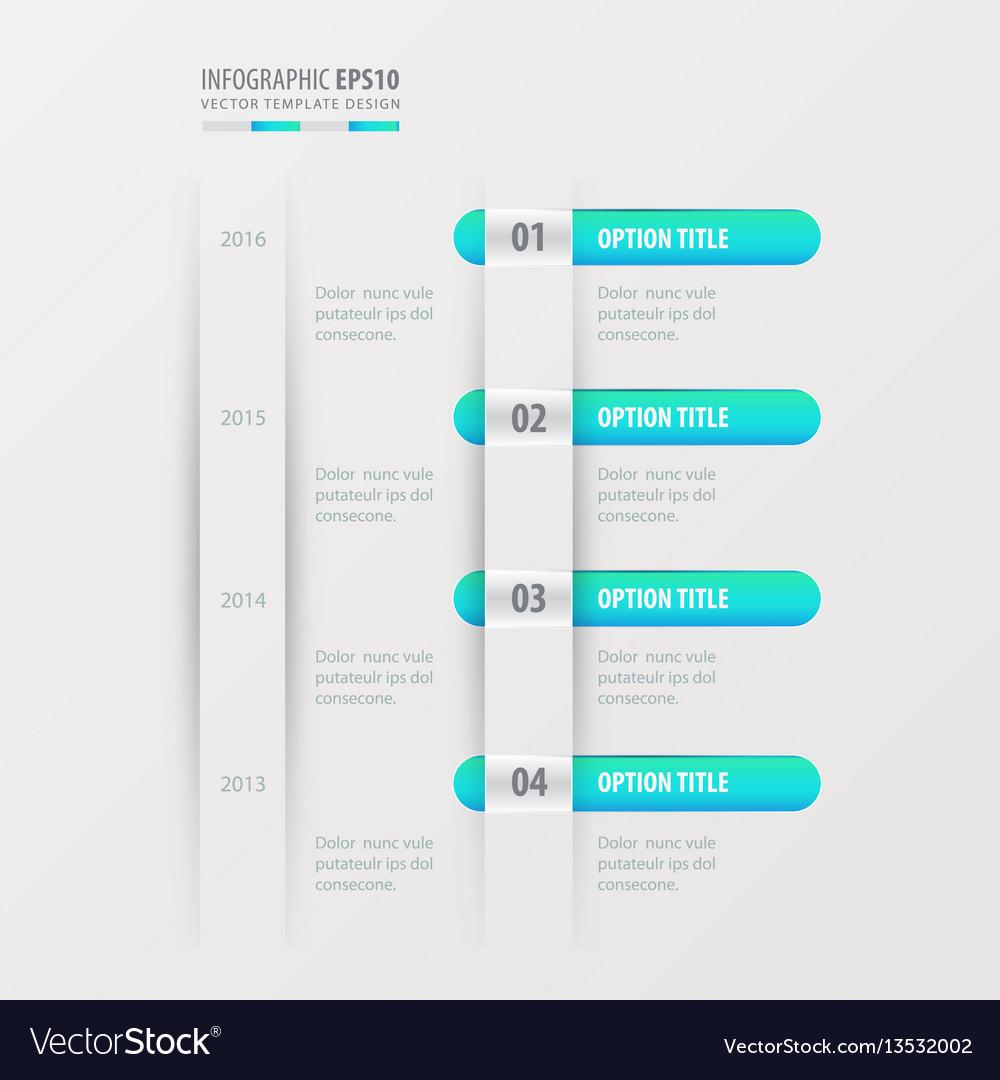 Timeline design blue gradient color