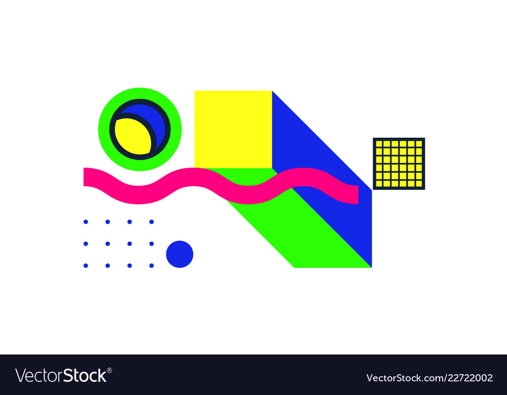 Universal geometric colorful trend background